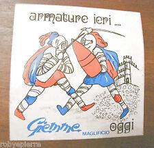 Adesivo GIEMME MAGLIFICIO ARMATURE IERI OGGI medioevali medioevo vintage sticker