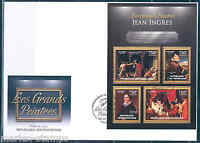 CENTRAL AFRICA 2012 JEAN INGRES  SHEET FIRST DAY COVER