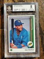 1989 UPPER DECK GARY SHEFFIELD #13 ROOKIE BGS 8 PSA 8 GRADED NM- Mint Dodgers 🔥