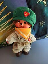 Monchhichi scout beige et vert rare