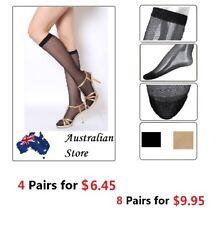 Ladies Women Girl Nylon Sheer Knee High Hi Stocking Silk Socks Silken BULK SALE