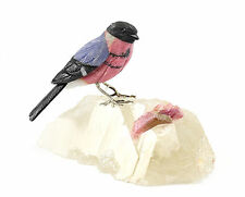 Peter Muller Brazilian Multicolored Hard stone & Gemstone Hand Carved Bird