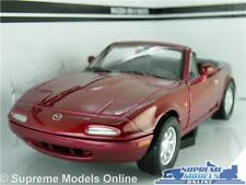 MAZDA MX-5 MIATA EUNOS MODEL CAR 1:24 SCALE MET RED OPENING PARTS LARGE MX5 K8