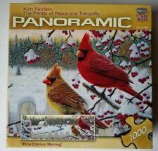 "Puzzle Master Pieces Panoramic ""White Crimson Morning""  1000 Pc Puzzle Used"