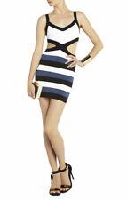 BCBGMAXAZRIA 'Elle' Cutout Cocktail Dress (White/Black/Blue) Size Small