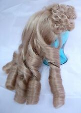 """MONIQUE Doll Wig """"ANNETTE"""" 10-11 -BLONDE  - Long Ringlets & Very Curly Bangs"""