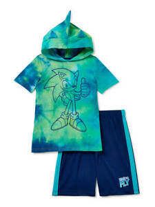 SONIC THE HEDGEHOG BOYS 2 PIECE OUTFIT SIZE 4 5 6 7 8 10 NEW