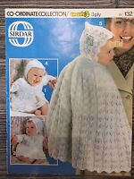 Sirdar Knitting Pattern: Baby Matinee Jacket, Cape, Angel Top etc 3ply, 18""