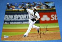 Josh Lueke Autographed 8 x 10 Photo Authenticated, Tampa Bay Rays