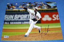 Josh Lueke Autographed 8 x 10 Photo Authenticated, Tampa Bay Rays
