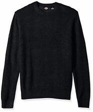 Dickies Men's Solid Sweater/Jersey Crew, Midnight, Medium Free Shipping