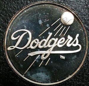 Rare LA DODGERS 1988 Western Champions MLB Limited Edition 1 Oz .999 Silver Coin