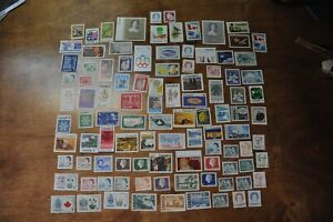 Nice lot of 100 G/F Canadian stamps no postmark no gum