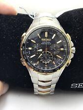 Seiko Coutura Radio Sync Solar Chronograph Two Tone SS Men's Watch SSG010-H96