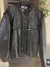 Vintage NOS Buco Steerhide Black Leather Jacket J100 Cafe Motorcycle Size 42