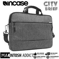 "Incase City Brief Premium Stylish Shoulder Bag For 15"" MacBook Laptop GREY/BLACK"