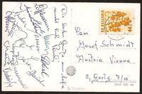 s1663) Österreich Autogrammkarte Fussball AK Bulgarien Unterschriften v B-Team