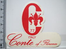 Aufkleber Sticker Decal Conte of Florence - Italy - Italien (2562)