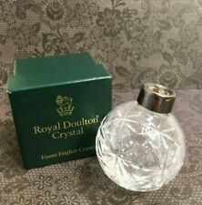 1991 Royal Doulton Cut Crystal Christmas Tree Ball Ornament w/ Box
