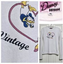 RARE DISNEY VINTAGE CLOTHING LOVE HEART TOP S/M LIMITED ISSUE Donald/Daisy Duck