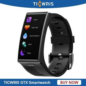 NEW TICWRIS GTX Smart Watch IP68 Waterproof Sports Fitness Tracker Smartwatch
