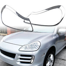 Chrome Front Headlight Trim Set Cover For Porsche Cayenne 957 07-10