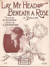 K.P.O. RADIO ukulele song MAURICE J. GUNSKY San Francisco BENEATH A ROSE 1926
