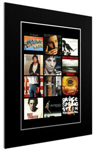 MOUNTED / FRAMED PRINT BRUCE SPRINGSTEEN DISCOGRAPHY - 3 SIZES POSTER GIFT ART