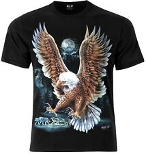 Bald Eagle Wild T-Shirt Front and Back Print Native American Biker Eagles