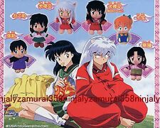 INUYASHA mini plush doll strap figure set of 6 official anime Kagome etc Authent