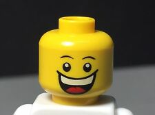 NEW LEGO Minifig Head Dual Print Grin/Sad with Tear - Happy/Sad Minifigure Head