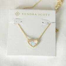 Kendra Scott Ari Heart Gold Pendant Necklace In Dichroic NEW