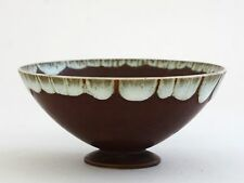 "Swen Wejsfelt, Gustavsberg ""Delicate stoneware bowl in terracotta glaze with run"