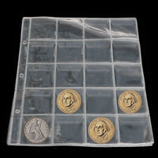 1 Sheet 20 Coin Holder Collection Storage Case World Coin Pocket Album Book New