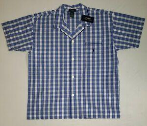 Polo Ralph Lauren Blue Button Down Sleepwear Pajama Shirt Men's Size XL NEW!