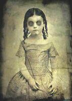 Antique Victorian Post Mortem Photo 112b Odd Strange & Bizarre