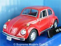 VOLKSWAGEN BEETLE MODEL CAR 1/43 SCALE RED LATER PACKAGED ISSUE BOXED K8967Q~#~