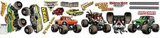 MONSTER JAM 19 WaLL DeCaLS GRAVE DIGGER EL TORO LOCO Room Decor Stickers DRAGON
