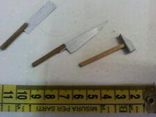3 attrezzi miniatura minuterie presepe,oggetti pastori shepherd nativity scen