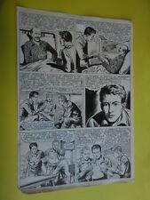 "SERGIO TARQUINIO-tavola originale FIRMATA pagina-12  -""3 Storie Avventurose""1954"