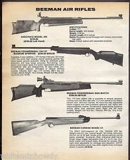 1983 BEEMAN Anschutz Model 250 Feinwerkbau 124/127 3005,Carbine C1 Air Rifle AD