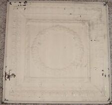 "Antique Metal Salvaged 24"" x 24"" Ceiling Tin (1901)"