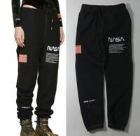 FW18 Heron Preston x NASA USA Flag Sweat Pants Casual Trousers Black