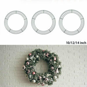 10/12/14inch Wire Wreath Frame Wreath Making Rings Festivals Party Home Decors