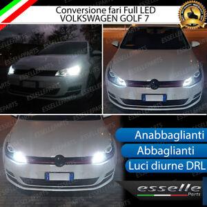 CONVERSIONE FARI FULL LED VW GOLF 7 CANBUS 6000K ANABBAGLIANTI ABBAGLIANTI DRL