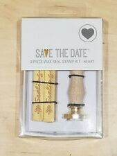 Wax Seal Stamp Kit -Heart Shape with Gold Wax