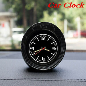 Car Dashboard Clock Small Round Luminous Glass Mirror Removable Shell Universal
