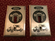 2 Ford NOS 1930 Sport Coupe Light Switch Cover Plates, Dated 1978, Free S/H