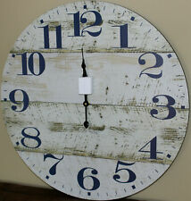 REDUCED  Rustic Wood Wall Clock 60 cm BRAND NEW