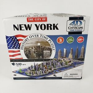 NEW The City of New York 4D Cityscape Puzzle History Over Time 840+ Pieces